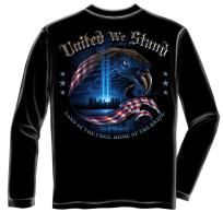 NEW LONG SLEEVE T-SHIRT 9-11-2001 UNITED WE STAND SIZE X-LARGE