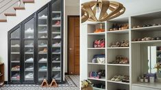 7 Amazing Shoe Storage Ideas From Real Homes - Schuh aufbewahrung Shoe Storage Furniture, Furniture Sale, Shoe Storage Solutions, Storage Ideas, Wall Storage, Storage Spaces, Wall Shelves, Shoe Room, How To Store Shoes
