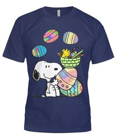 ec8e5c3d6ffb6 Snoopy Woodstock Easter Beagle T Shirt