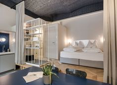 Experience the real Vienna: The grätzlhotel concept transforms abandoned shops into trendy accommodation. These garden or street lofts next door to Viennese locals immerse you in the city's urban life. Loft, Next Door, Hotel Spa, Bunk Beds, Furniture, Home Decor, Vienna, Bavaria, Austria