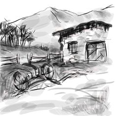 Spain barn, #Sketch Pro