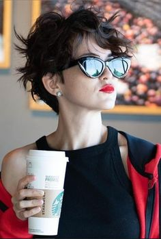31 Hottest Short Messy Pixie Haircuts For Stylish Woman – - Messy Short Hairstyle Messy Pixie Haircut, Pixie Haircut For Thick Hair, Haircuts For Wavy Hair, Haircut For Older Women, Short Black Hairstyles, Pixie Hairstyles, Short Hair Cuts, Haircut Short, Pixie Haircuts
