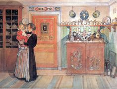 Between Christmas And New Year-Carl Larsson – Swedish Painter) Carl Larsson, Arts And Crafts Movement, La Pie Monet, Moritz Von Schwind, Swedish Style, Swedish Decor, Expositions, Large Painting, Museum Of Fine Arts