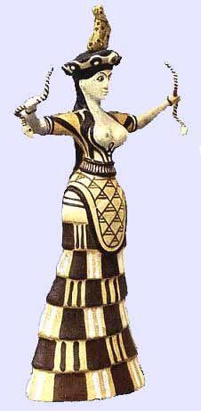 Snake Goddess from Knossos, Crete - c. 1600 BC