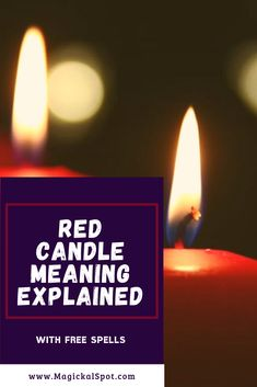 Here's everything you need to know about the Red Candle Meaning and Symbolism. I've also included a few spells with red candles, and one of them is particularly useful. This spell will help you find out how your crush thinks about you. Wiccan Spells, Candle Spells, Magick, Magic Spells, Witchcraft, Magic Spell Book, Spell Books, Candle Meaning, Hamburg