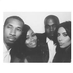 Kim Kardashian Kanye West Wedding alongside her friends Tyga Blac Chyna Kim Kanye Wedding, Kim Kardashian Wedding, Kim Kardashian Kanye West, Kardashian Jenner, Kris Jenner, Kardashian Style, Black Chyna, Tony Williams, Kanye West And Kim