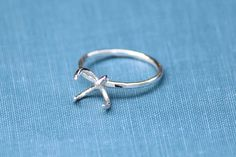 Claw Ring Blank 4 Prong Silver Band Wholesale Ring Silver