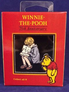 Winnie The Pooh Christopher Robin Pin 75th Anniversary Disney Gallery Boxed  #WinnieThePooh