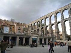 Roman aqueducts in Segovia, Spain. March 2001/March 2003.