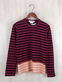 Comme des Garcons Long Sleeved multi color Boarder Tshirt