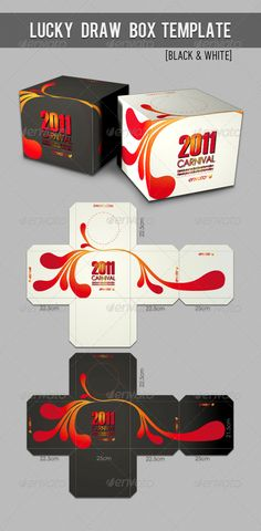 Lucky Draw Box Template Packaging Print Template Vector EPS. Download here: http://graphicriver.net/item/lucky-draw-box-template/234341?s_rank=289&ref=yinkira