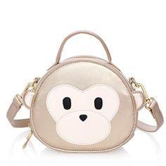 Ericdress Lovely Monkey Color Block Handbag