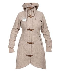 Look at this Light Beige Wool-Blend Bergfrue Toggle Coat on #zulily today!