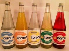 Corona fizzy pop, delivered door-to-door by The Pop Man, who would give you a few pennies back for returning the empty bottles - my favourites were cream soda and limeade. Pub Vintage, Vintage Metal Signs, Vintage Food, Vintage Music, 1970s Childhood, My Childhood Memories, Sweet Memories, Retro Sweets, Vintage Sweets