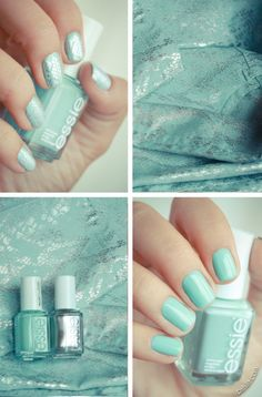 Python Nails with Mint Candy Apple by Essie
