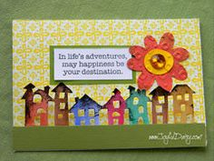Project Ideas for Sizzix - Tim Holtz - Alterations Collection - On the Edge Die - Townscape