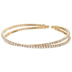 Simulated Crystal Crossover Cuff Bracelet ($13) ❤ liked on Polyvore featuring jewelry, bracelets, multicolor, cuff bangle, cuff bracelet, artificial jewellery, gold tone jewelry and gold tone cuff bracelet