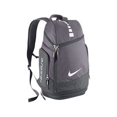Nike Hoops Elite Max Air Team Basketball Backpack Charcoal Dark Grey/White ** More info could be found at the image url. Backpack Travel Bag, Rucksack Bag, Black Backpack, Duffle Bags, Laptop Backpack, Grey Backpacks, Kids Backpacks, Nike Elite Backpack, Nike Under Armour