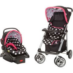 Disney Saunter Sport LC-22 Travel System, Coral Flowers Minnie Mouse I need this omg!!!