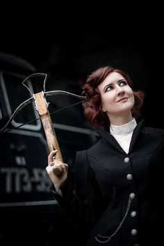 Girl with crossbow. #missperegrine #fantasy #character #inspiration #scene #book #nanowrimo #fiction #steamounk #victorian