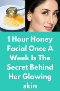 1 Hour Honey Facial Once A Week Is The Secret Behind Her Glowing skin Honey is a very beneficial ingredient that can be found in every Indian kitchen. Skin Tips, Skin Care Tips, Beauty Secrets, Beauty Hacks, Beauty Tips, Diy Beauty, Homemade Beauty, Beauty Makeup, Beauty Essentials