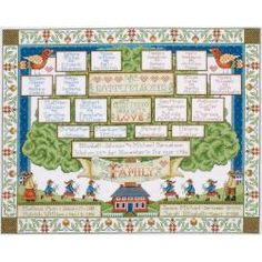 Family Tree Counted Cross Stitch Kit-16