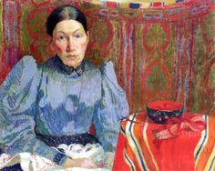 Portrait of Emilie Amiet-Baer, 1894 Cuno Amiet - by style - Post-Impressionism  - WikiArt.org