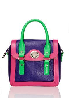 BODHI Candy Colorblock Convertible Satchel...what a fun bag!!