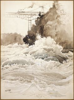 """The Whirlpool Rapids,"" Harry Fenn, 1893, watercolor on paper, 14 x 10"", Albright-Knox Art Gallery."