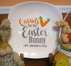 ON SALE!!! Carrots for the Easter Bunny Personalized Easter Plate