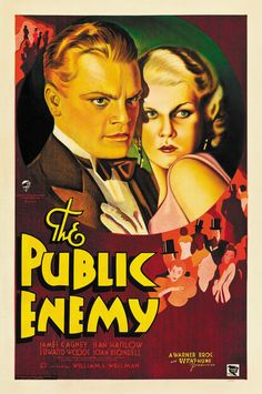 The Public Enemy (1931) Jean Harlow James Cagney movie poster print 2