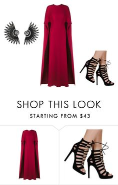 """""""Untitled #1288"""" by grandmasfood ❤ liked on Polyvore featuring Valentino, women's clothing, women's fashion, women, female, woman, misses and juniors"""