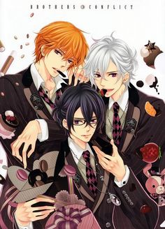 Tags: Anime, Scan, IDEA FACTORY, Official Art, Brothers Conflict