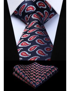 Shirt Tie Combo, Tie And Pocket Square, Red And Blue, Mens Fashion, My Style, Floral, Handmade, Neck Ties, Party Wedding