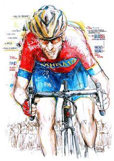 Vincenzo Nibali, Team Bahrain-Merida, gewinnt im Alleingang die 109. Auflage von Mailand-Sanremo (100x70cm) Cycling Art, Bicycling, Road Racing, Merida, Spin, Creative Ideas, Photo Art, Photos, Pictures