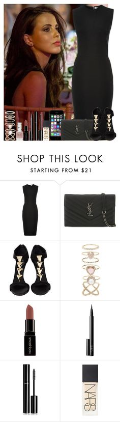 """Untitled #1424"" by irish26-1 ❤ liked on Polyvore featuring Victoria Beckham, Yves Saint Laurent, Giuseppe Zanotti, Accessorize, Smashbox, NARS Cosmetics, Chanel and Topshop"