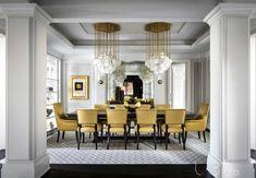 Luxury Dining Room Decor Inspirations – Artistic Interior Design – Most Beautiful Furniture Dining Room Colors, Elegant Dining Room, Luxury Dining Room, Dining Room Walls, Dining Room Lighting, Dining Room Design, Classic Dining Room, Room Interior, Interior Design
