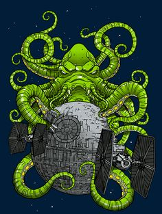 CTHULHU STRIKES BACKby Simon ButlerT-shirt available at Qwertee