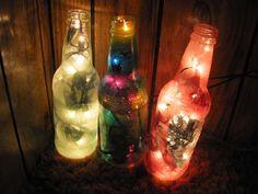 garrafas de vidro decoradas - Pesquisa Google