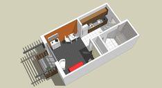 Studio Apartment Floor Plans, Condo Floor Plans, Studio Apartment Design, Small Apartment Design, Apartment Layout, Apartment Plans, House Plans, Apartment Ideas, One Bedroom House