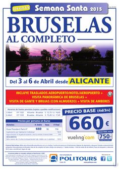 """BRUSELAS """"Semana Santa"""" sal. 2 y 3 de Abril desde Santiago y Alicante (4d/3n) p. final desde 750€ ultimo minuto - http://zocotours.com/bruselas-semana-santa-sal-2-y-3-de-abril-desde-santiago-y-alicante-4d3n-p-final-desde-750e-ultimo-minuto-3/"""