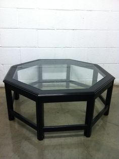 Black Octagon Coffee Table 250