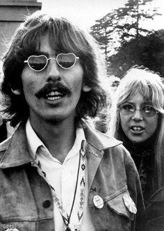 pinterest john lennon and pattie boyd harrison | 1967 - George Harrison & Pattie Boyd