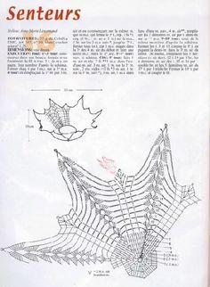 Crochet Doily Diagram, Crochet Motif Patterns, Filet Crochet, Crochet Designs, Crochet Doilies, Crochet Flowers, Crochet Vase, Crochet Tablecloth, Thread Crochet