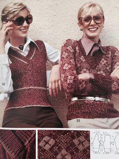 BURDA glam knitting inspiration 1973