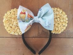 Handmade floral ears Light yellow flowers with a Winnie the Pooh bow <3 One size fits all Xoxo