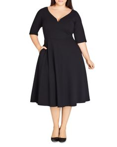 online shopping for City Chic Cute Girl Dress (Plus Size) from top store. See new offer for City Chic Cute Girl Dress (Plus Size) Plus Size Black Dresses, Dress Plus Size, Plus Size Outfits, Flattering Plus Size Dresses, Plus Size Vintage Dresses, City Chic Dresses, Cute Girl Dresses, Fall Dresses, Hippie Dresses