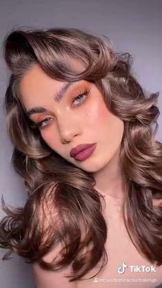 Asian Eye Makeup, Makeup Eye Looks, Creative Makeup Looks, Beautiful Eye Makeup, Cute Makeup, Pretty Makeup, Pink Lips Makeup, Lip Makeup, Makeup Looks Tutorial