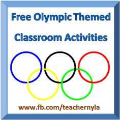 Nyla's Crafty Teaching: Free Olympic Activities and Printables for Students Olympic Idea, Olympic Games, Classroom Themes, Classroom Activities, Preschool Literacy, Kindergarten, Olympic Crafts, Primary Teaching, Student Teaching