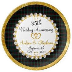 Personalized 60th Anniversary Porcelain Plate 50th Gifts Unique Funny